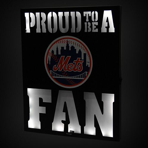 "New York Mets 12"" x 15"" LED Metal Wall Decor"