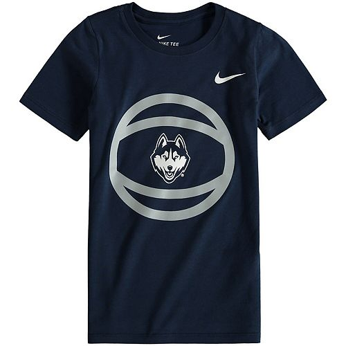 Preschool Nike Navy UConn Huskies Basketball and Logo T-Shirt