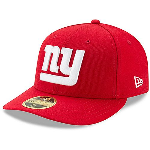 Men's New Era Red New York Giants Omaha Low Profile 59FIFTY Structured Hat
