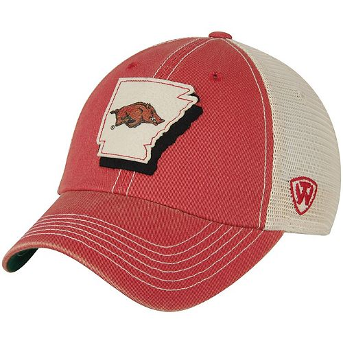 Men's Top of the World Cardinal/Natural Arkansas Razorbacks United Trucker Team Color Adjustable Hat