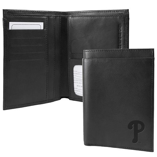 Black Philadelphia Phillies Traveling Team Passport Wallet