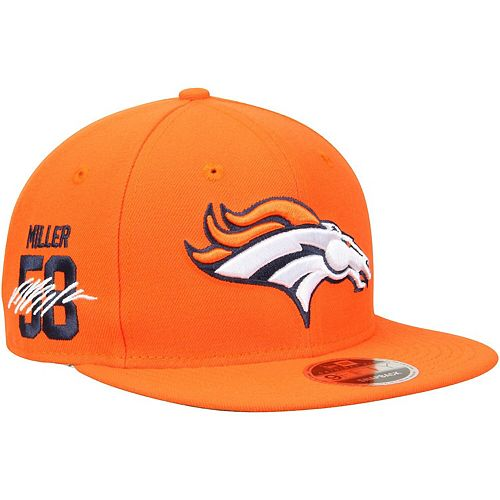 Men's New Era Von Miller Orange Denver Broncos Signature Side 9FIFTY Adjustable Snapback Hat