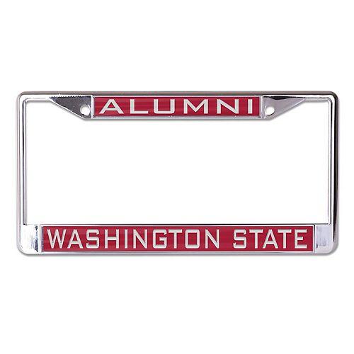 WinCraft Washington State Cougars Alumni Inlaid Metal License Plate Frame