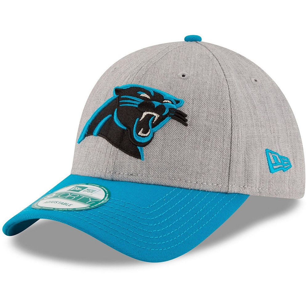 Men's New Era Heathered Gray/Blue Carolina Panthers The League 9FORTY Adjustable Hat