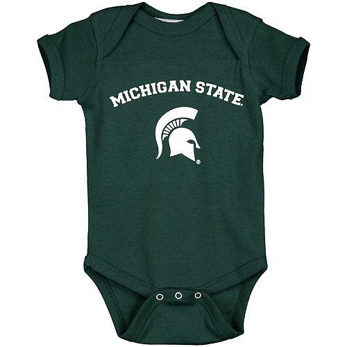 Infant Green Michigan State Spartans Arch & Logo Bodysuit