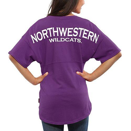 Women's Purple Northwestern Wildcats Spirit Jersey Oversized T-Shirt
