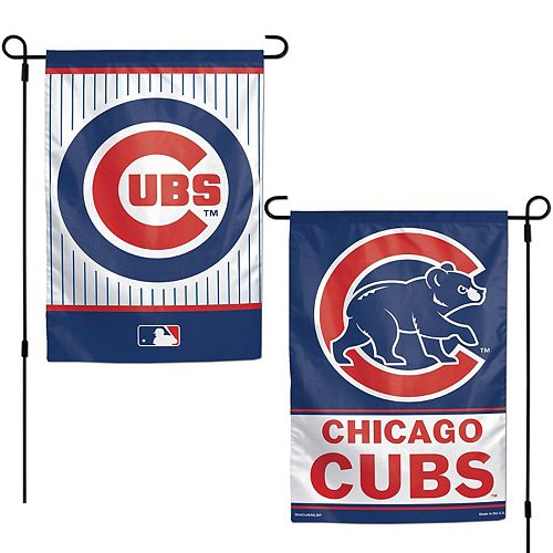 """WinCraft Chicago Cubs 12"""" x 18"""" Double-Sided Garden Flag"""
