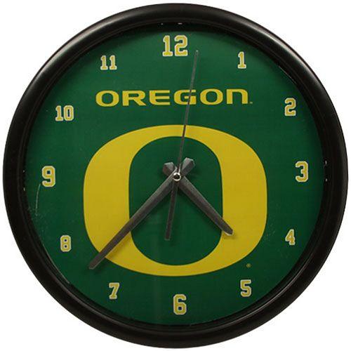 Oregon Ducks Black Rim Basic Clock