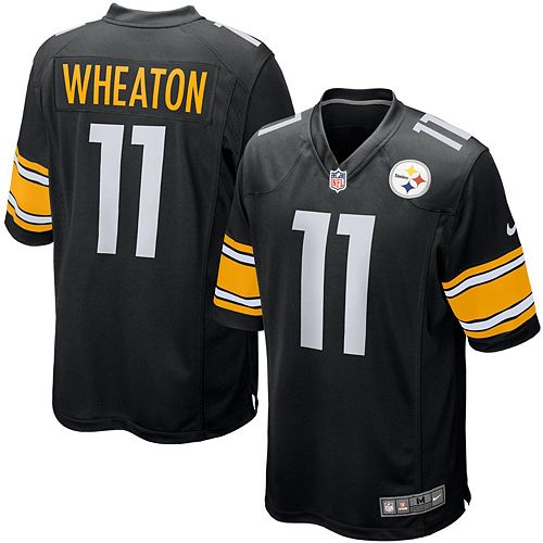 Mens Pittsburgh Steelers Markus Wheaton Nike Black Game Jersey