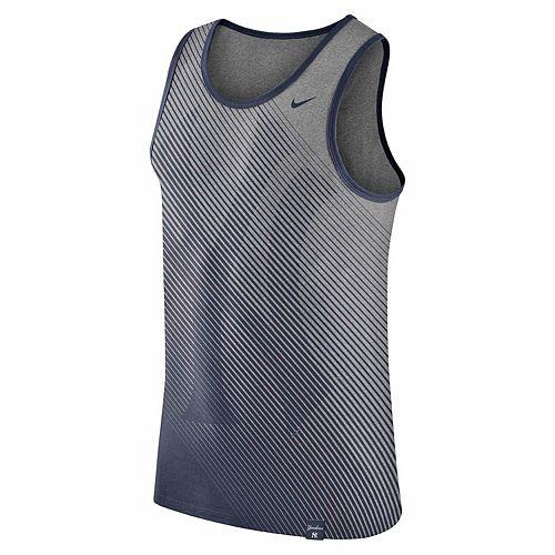 Men's Nike Heathered Gray New York Yankees 1.7 Tri-Blend Tank Top