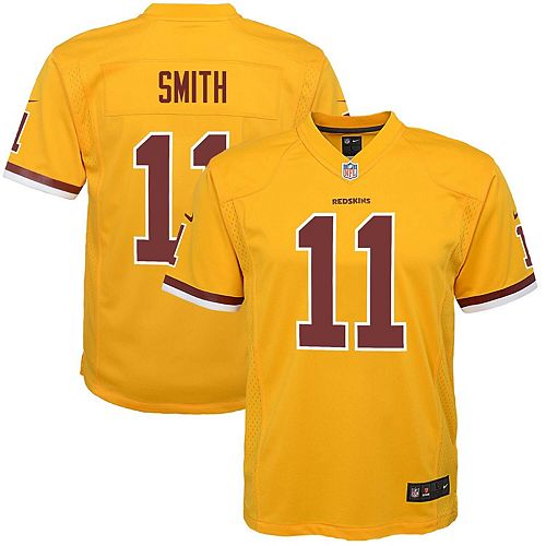 best service ae9d3 68e3f Youth Nike Alex Smith Gold Washington Redskins Color Rush Alternate Player  Game Jersey