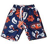 Preschool Wes & Willy Navy Auburn Tigers Floral Swim Trunks