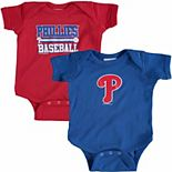 Newborn & Infant Soft as a Grape Red/Royal Philadelphia Phillies 2-Piece Body Suit