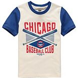 Youth Cream/Royal Chicago Cubs Timeless Pastime Ringer T-Shirt