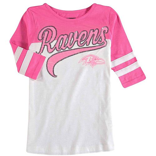 timeless design ba30c a8621 Girls Youth 5th & Ocean by New Era White/Pink Baltimore ...