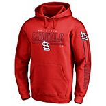Men's Fanatics Branded Red St. Louis Cardinals Front Line Pullover Hoodie