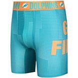 Men's Concepts Sport Aqua Miami Dolphins Infuse Boxer Briefs