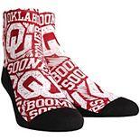 Youth Oklahoma Sooners Logo Sketch Quarter-Length Socks