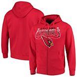 Men's G-III Sports by Carl Banks Cardinal Arizona Cardinals Perfect Season Full-Zip Hoodie