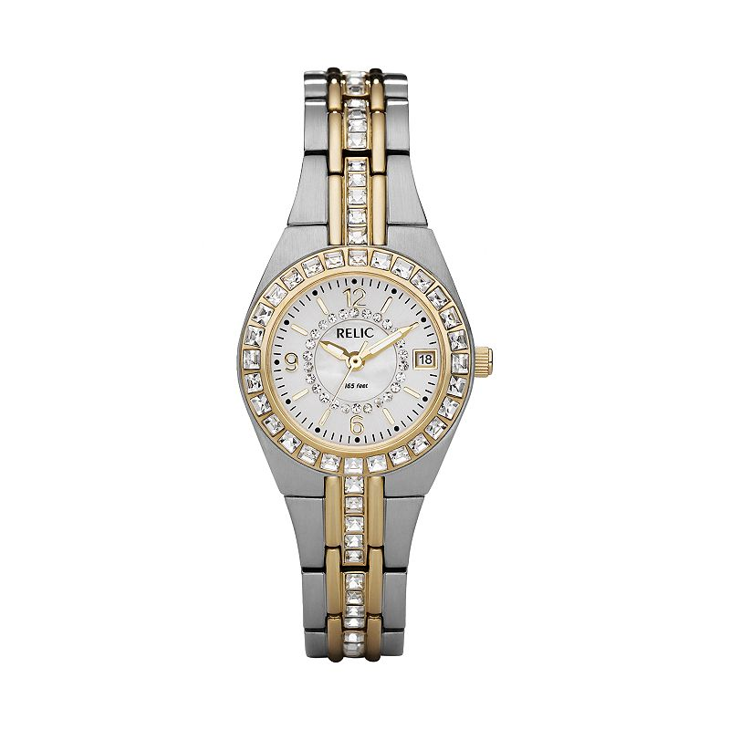 Relic Wet Glitz Stainless Steel Crystal Watch - Women