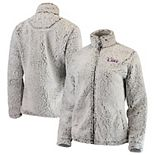 Women's Heathered Gray LSU Tigers Sherpa Full-Zip Jacket