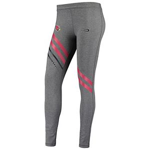 Women's Under Armour Heathered Charcoal Arizona Cardinals Combine Authentic Stripe Favorites Leggings