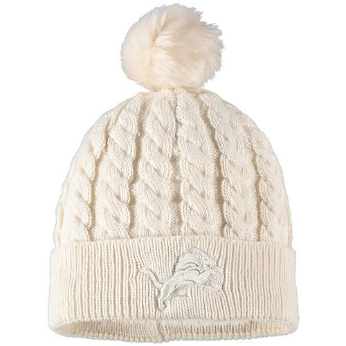 lower price with low price good out x Women's New Era Cream Detroit Lions Walcott Cuffed Knit Hat with ...