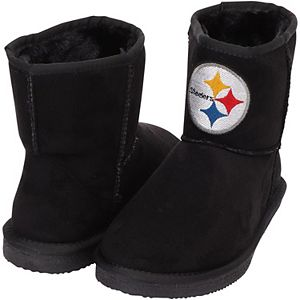 Women's Cuce Black Pittsburgh Steelers The Rookie Mini Boots