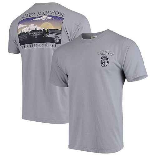 newest 35d3a d2203 James Madison Dukes Comfort Colors Campus Scenery T-Shirt - Gray