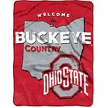 """The Northwest Company Ohio State Buckeyes 60"""" x 80"""" Welcome Silk Touch Throw Blanket"""