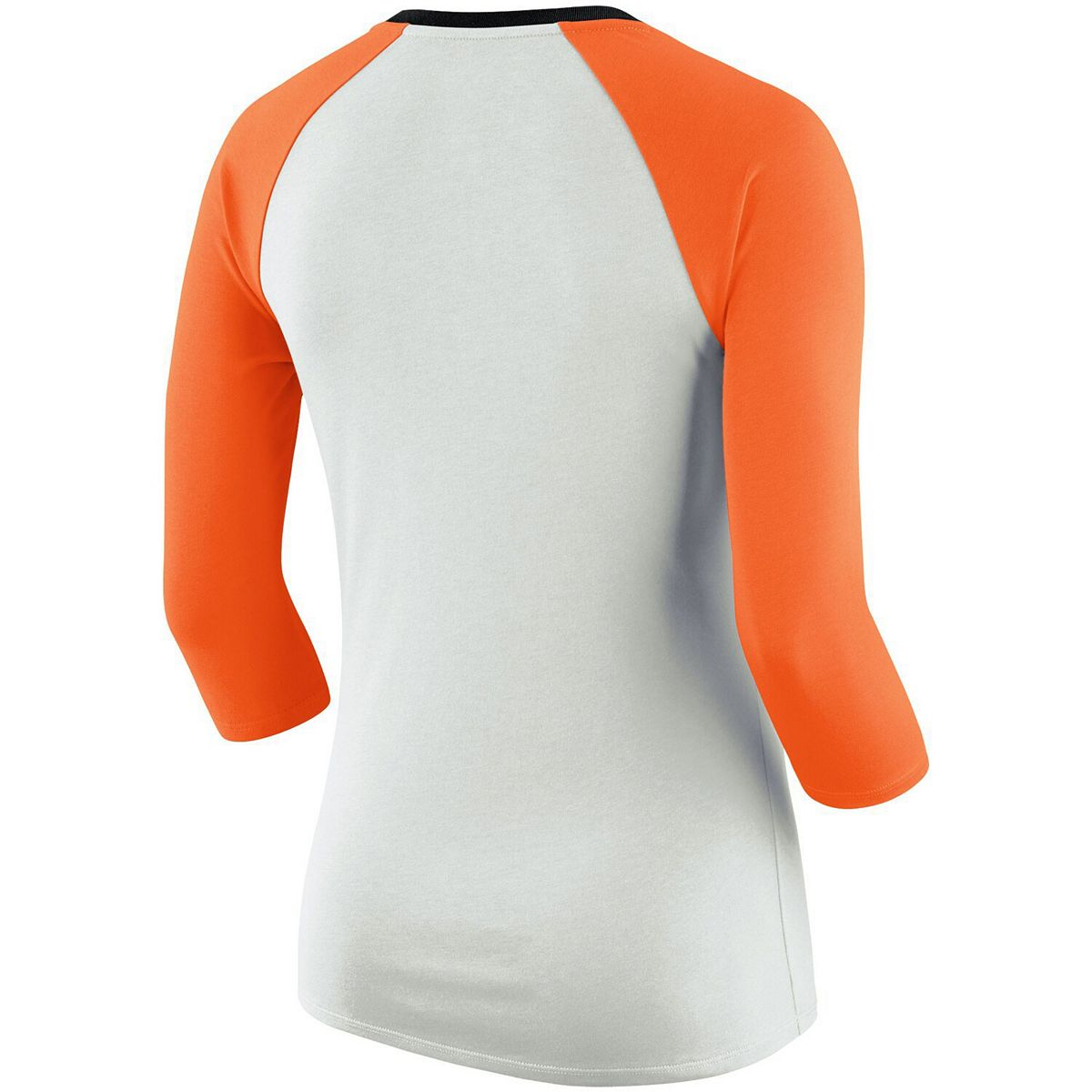Women's Nike White/Orange San Francisco Giants Tri-Blend Raglan 3/4-Sleeve T-Shirt MAwLP