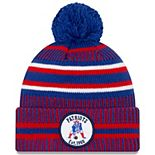 Youth New Era Navy/Red New England Patriots 2019 NFL Sideline Home Historic Logo Sport Knit Hat
