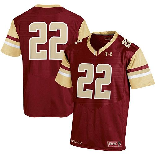 info for 00b50 644b7 Men's Under Armour #22 Maroon Boston College Eagles ...