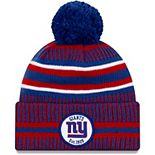 Youth New Era Royal/Red New York Giants 2019 NFL Sideline Home Sport Knit Hat