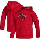 Youth adidas Red Louisville Cardinals Team Issue Speed Arch climawarm Pullover Hoodie
