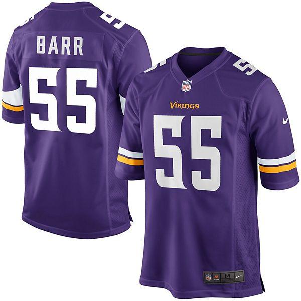 Mens Minnesota Vikings Anthony Barr Nike Purple Game Jersey