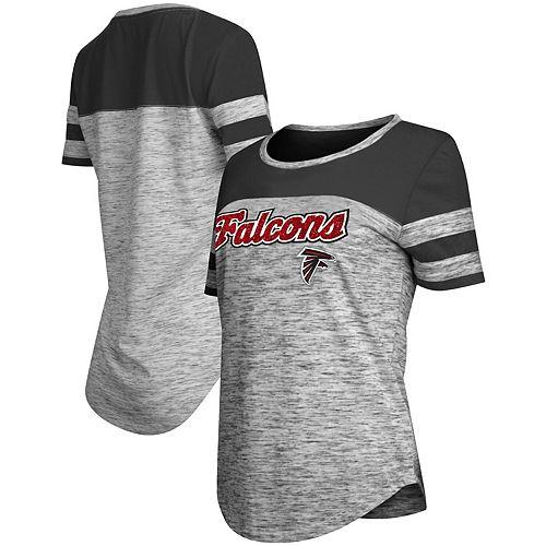 the latest 7d4ae e0041 Women's New Era Black Atlanta Falcons Glitter Gel T-Shirt