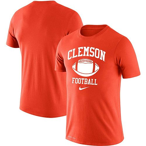 Men's Nike Orange Clemson Tigers Retro Football Lockup Legend Performance T-Shirt
