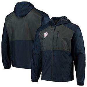Men's Columbia Navy New York Yankees Cooperstown Collection Flash Forward Full-Zip Windbreaker Jacket
