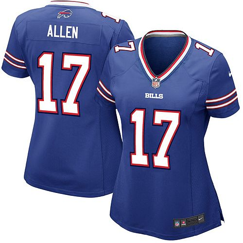 new product 264fa c5ce3 Women's Nike Josh Allen Royal Buffalo Bills Game Jersey