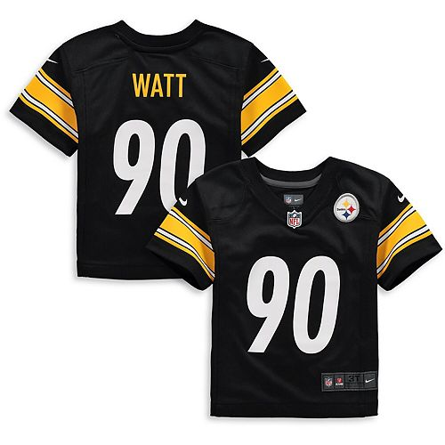 on sale 035f5 7559a Toddler Nike T.J. Watt Black Pittsburgh Steelers Player Game Jersey