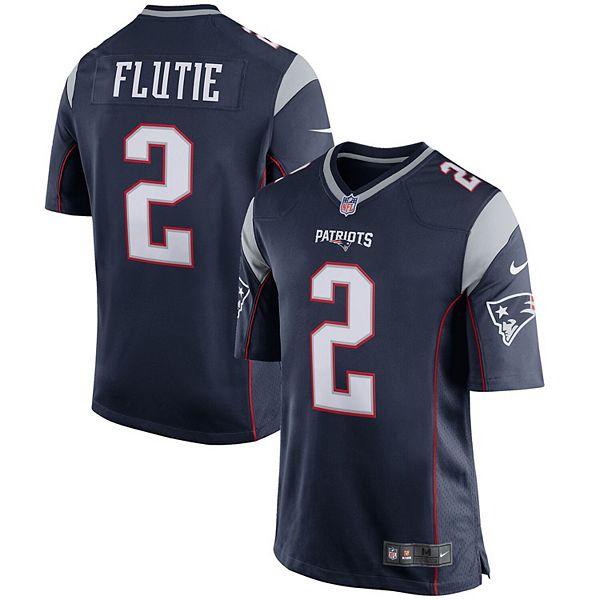 Men's Nike Doug Flutie Navy Blue New England Patriots Retired Player Game Jersey