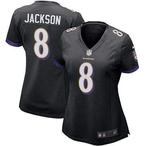 meet dcb75 10df6 Women's Nike Lamar Jackson Black Baltimore Ravens Game Jersey