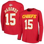 Youth Patrick Mahomes Red Kansas City Chiefs Mainliner Name & Number Long Sleeve T-Shirt