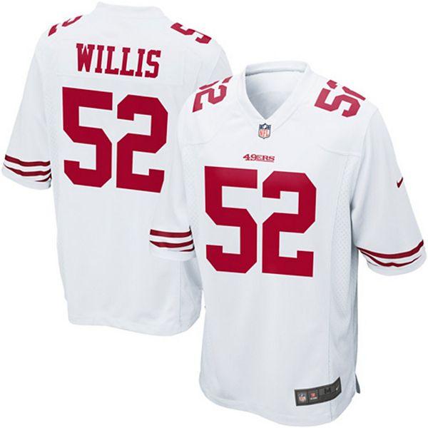 Mens San Francisco 49ers Patrick Willis Nike White Game Jersey