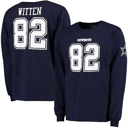 cheap for discount 3bee4 8d5f7 Men's Jason Witten Navy Dallas Cowboys Star Player Name & Number Long  Sleeve T-Shirt