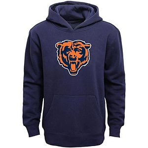 Chicago Bears Youth Primary Logo Team Color Fleece Pullover Hoodie - Navy Blue