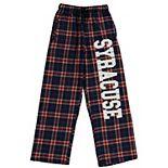Youth Navy Syracuse Orange Plaid Flannel Pants