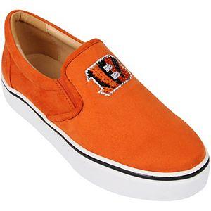 Women's Cuce Orange Cincinnati Bengals Suede Slip On Shoe