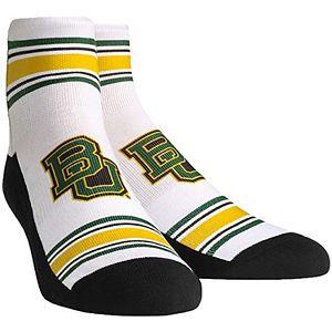 Men's White Baylor Bears Classic Stripes Quarter-Length Socks